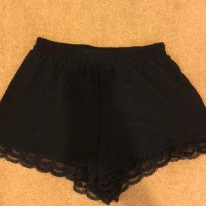 BP black lace shorts